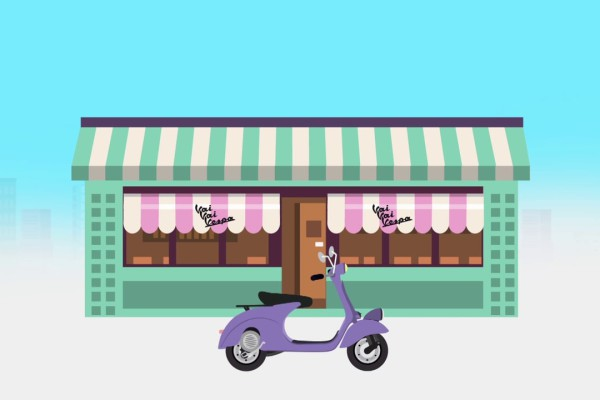 Animatie video  |  Vai Vai Vespa